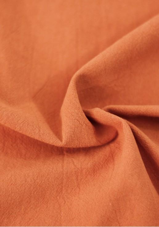 Tissu coton lavé - Abricot