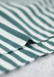 Tissu marinière jersey de coton - Sarcelle