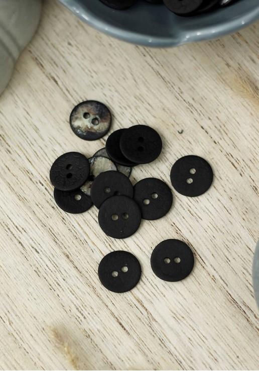 Bouton Crinkle - Black
