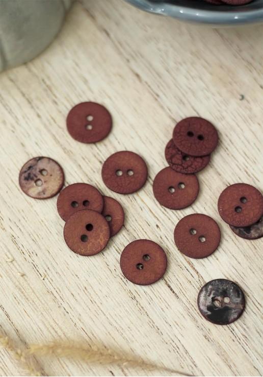 Bouton Crinkle - Rust