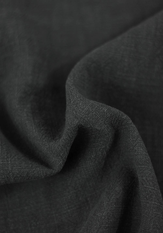 Tissu Lin Lavé - Noir