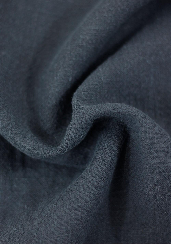 Tissu Lin Lavé - Bleu crépuscule