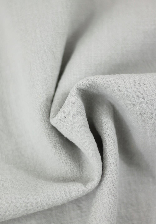 Tissu Lin Lavé - Gris argent