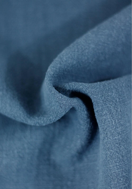 Tissu Lin Lavé - Bleu horizon