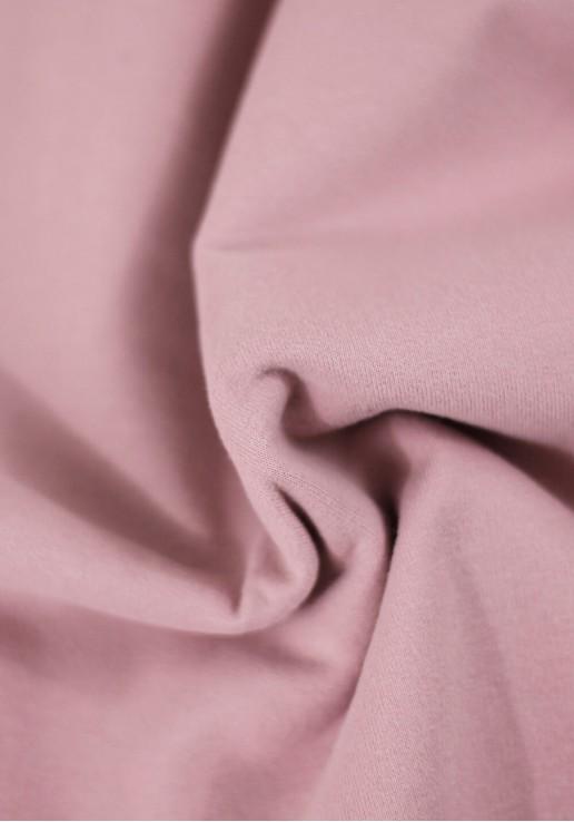 Tissu Molleton Bio - Cameo Pink