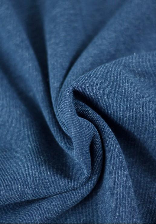Tissu French Terry Denim - Dark Blue