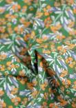 Tissu Popeline Summer - Vert et Lilas