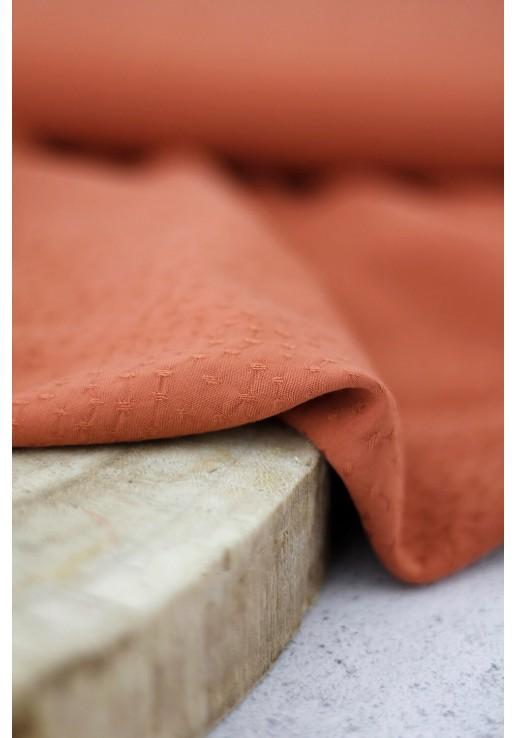Tissu viscose jacquard - Pumpkin