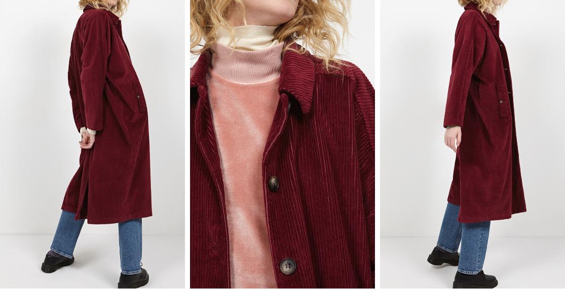 Inspiration manteau grosse côte velours American Vintage