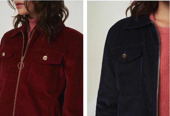 Inspiration d'une veste en velours côtelé de Marie Sixtine