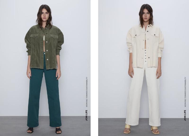 Inspiration veste en velours côtelé Zara