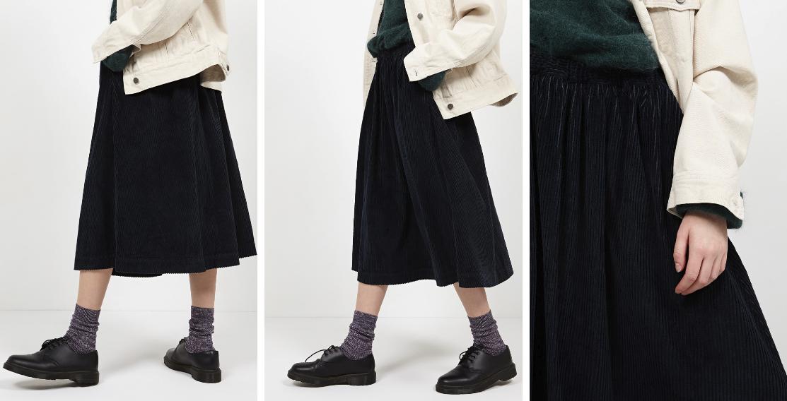 Inspiration jupe en velours côtelé American Vintage