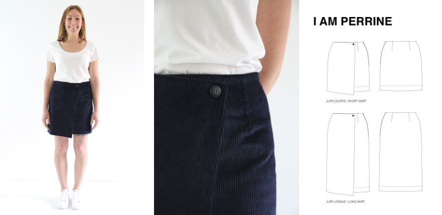 Patron de couture pour velours jupe Perrine