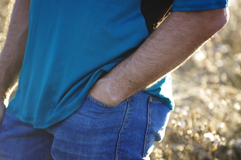 Réalisation d'un t-shirt Ivanne S Grain de couture en jersey viscose