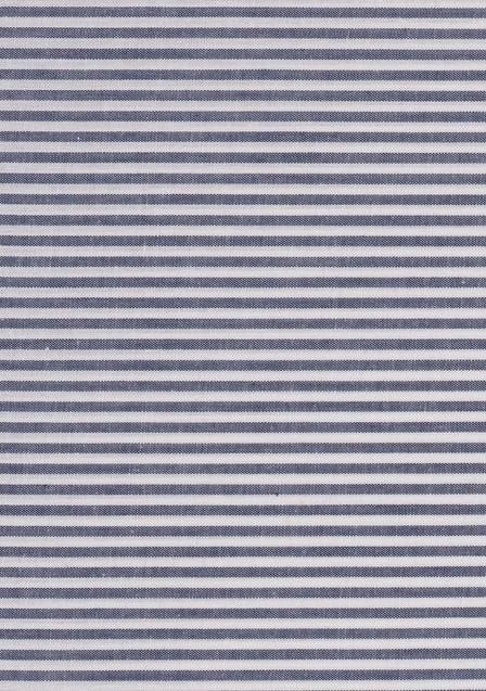 Idée de tissu pour homme avec un chambray à rayures blanches et bleues