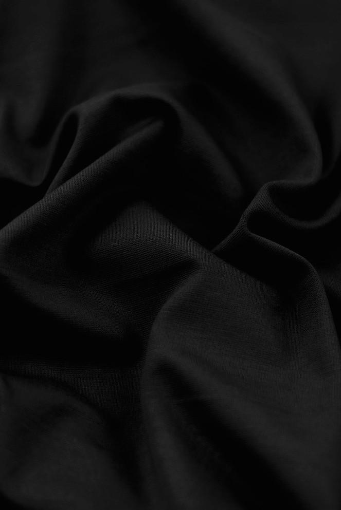 Tissu jersey milano de couleur noir