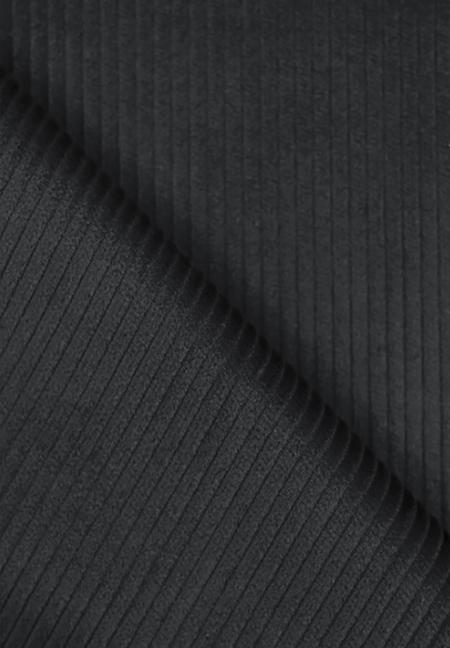 Velours grosses cotes noir au mètre